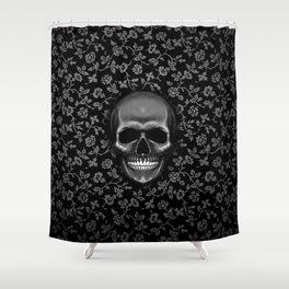 smile skull Shower Curtain