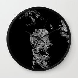 san francisco map Wall Clock