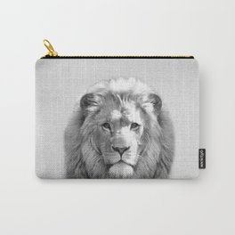 Lion - Black & White Carry-All Pouch