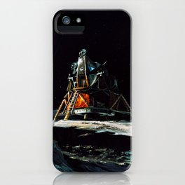 09. Imagining Apollo 13 on the Lunar Surface iPhone Case