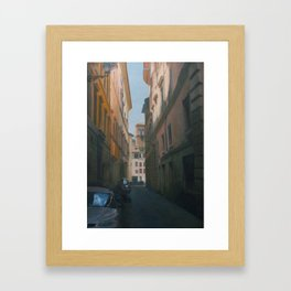 Street in Roma Framed Art Print