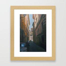 Street in Roma Framed Art Print
