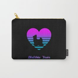 Yorkshire Terrier Love Cyberpunk Vaporwave Dog Puppy Gift Carry-All Pouch