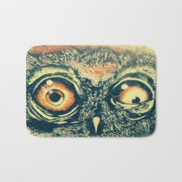 Buho owl animal graffiti drawing Bath Mat