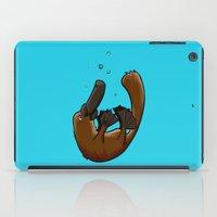 platypus iPad Cases featuring Playful Platypus by BasiliskOnline