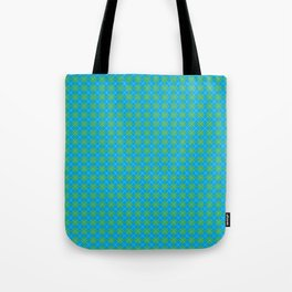 Argyle Pattern | Blue and Green Tote Bag
