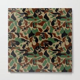 Dachshund  Camouflage Metal Print