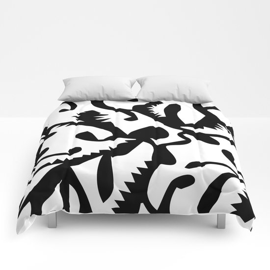 black ghosts Comforters