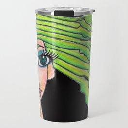 celery girl on black Travel Mug