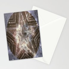 Hollywood Star with water drops Stationery Cards