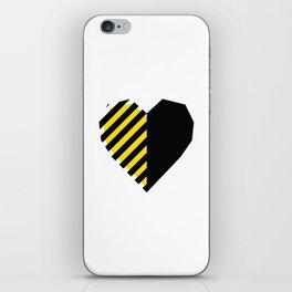 Yellow Love Heart iPhone Skin