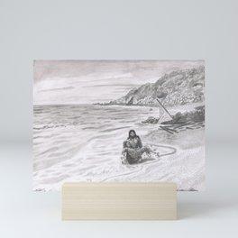 Inktober Day 08: Frail Mini Art Print
