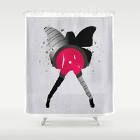 music Shower Curtains featuring music  by mark ashkenazi