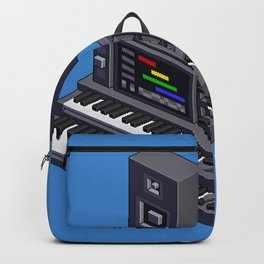 Electronic music altar — isometric pixel art Backpack