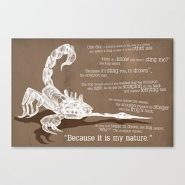 The scorpion Canvas Print