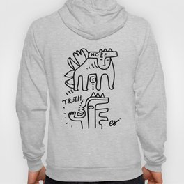 Hope and Truth Graffiti Black and White Hand Drawn  Hoody