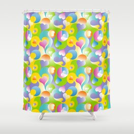 Swirling Hearts in Pastels Shower Curtain