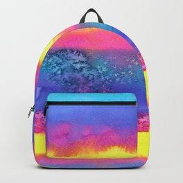 Rainbow Eruption Watercolor design Backpack