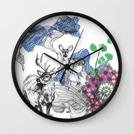 Deer Essaouira, Blue & Green Wall Clock