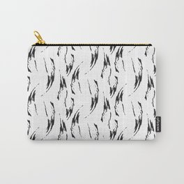 Modern abstract hand painted black watercolor brushstrokes Carry-All Pouch
