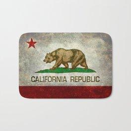 Californian flag the Bear flag in retro grunge Bath Mat