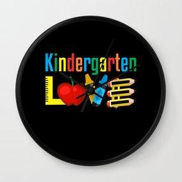 Back to Kindergarten Kids Teacher Student Wall Clock