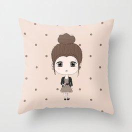 Virgo Girl Throw Pillow