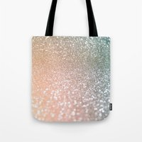 bisexual Tote Bags featuring Rose quartz glitter  by Better HOME