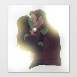Galactic kiss Canvas Print