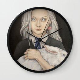 Luna Lovegood and rabbit patronus Wall Clock