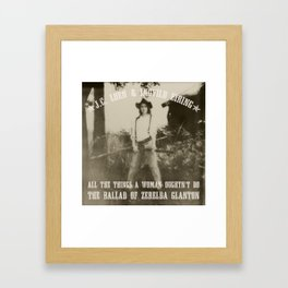 All the Things a Woman Oughtn't Do Framed Art Print