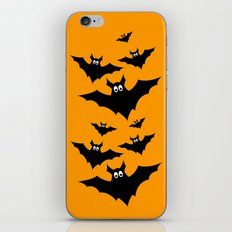 Cool cute Black Flying bats Halloween iPhone Skin