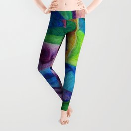 Open Up (Rainbow Rose) Leggings