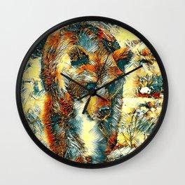 AnimalArt_Bear_20170603_by_JAMColorsSpecial Wall Clock