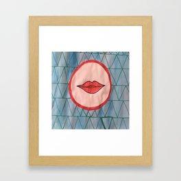 painted lips Framed Art Print