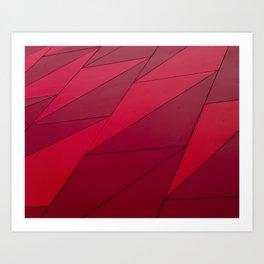 Absent stripes Art Print