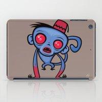 fez iPad Cases featuring Zombie Monkey by John Schwegel