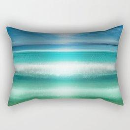 """""""Blue sky over teal sea South"""" Rectangular Pillow"""