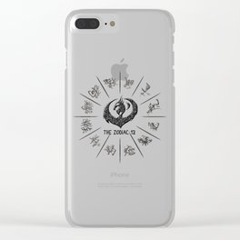The Zodiac 12 Wheel Clear iPhone Case