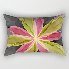 No Sadness, Joy, Fantasy Flower Rectangular Pillow