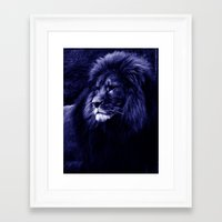 lion Framed Art Prints featuring Lion. by 2sweet4words Designs