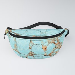 Cracked Turquoise & Rust Fanny Pack