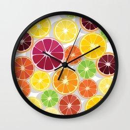 Citrus Assortment Wall Clock