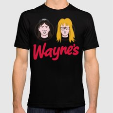 Wayne's Double Black Mens Fitted Tee SMALL
