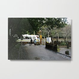 arashiyama train Metal Print