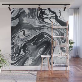 Marble in Black Ink Wall Mural