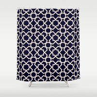 islam Shower Curtains featuring Morocco by Patterns and Textures