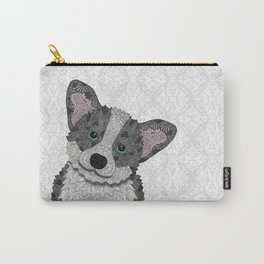 Welsh Corgi Coco (green eyes) Carry-All Pouch