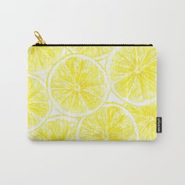 Lemon slices pattern watercolor Carry-All Pouch