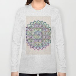 1 Billion Dollars Geometric Tan Long Sleeve T-shirt